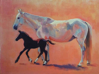 Wall Art - Painting - First Steps by Alison Stafford
