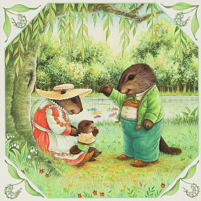 Beaver Painting - First Steps by Lynn Bywaters