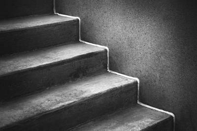 Of Stairs Photograph - First Steps Toward by Scott Norris