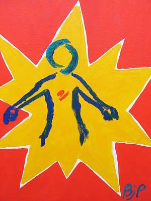 Punching Painting - First Strike by Brenda Pressnall
