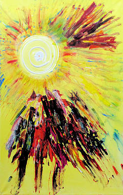 Painting - First Sun by Rojo Chispas