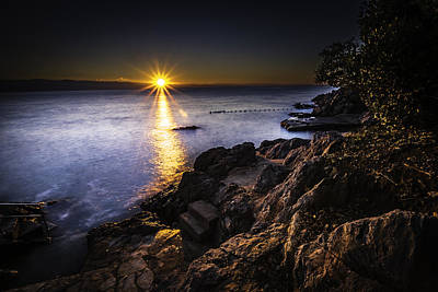 Photograph - First Rays Over The Adriatic by Francisco Gomez