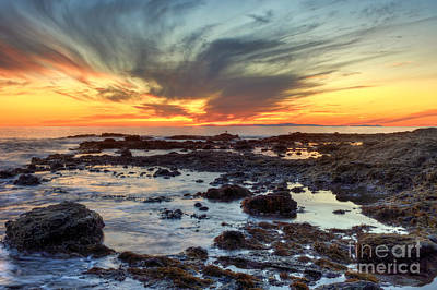 Laguna Beach Digital Art - First Sunset Of 2016 by Eddie Yerkish