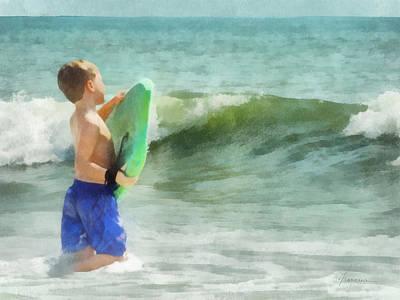 Digital Art - First Surf by Francesa Miller