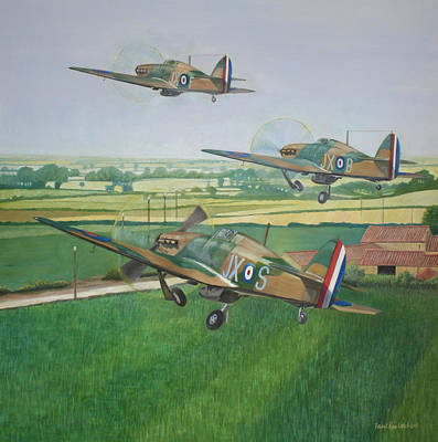 First To The Fight - 14th May 1940 - Battle Of France Original by Paul Rowland