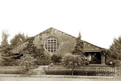 Photograph -  First Unitarian Church Berkeley Ca Circa 1905 by California Views Mr Pat Hathaway Archives