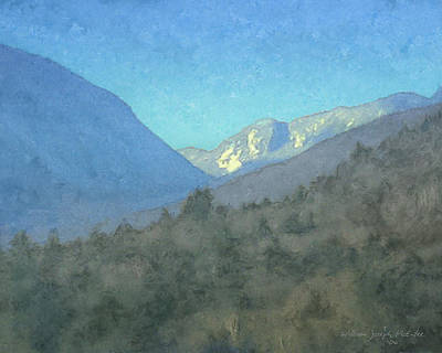 New Hampshire Artist Painting - First View Of Franconia Notch by Bill McEntee