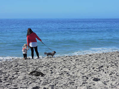 Photograph - First Visit To The Ocean by Vinnie Oakes