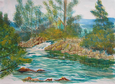 Painting - First Watercolour by Glenn Marshall