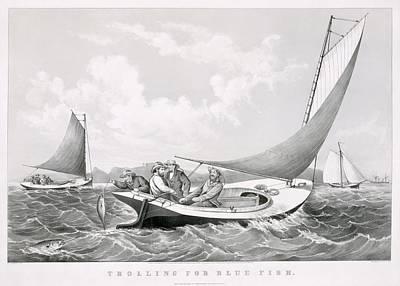 Fischer Fishing Art Print by MotionAge Designs