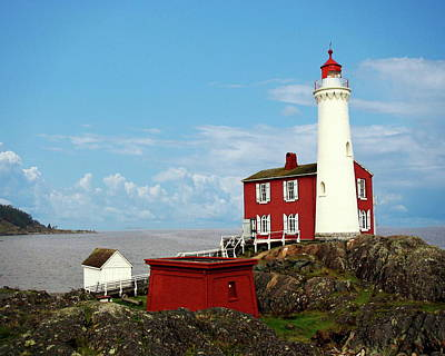 Photograph - Fisgard Lighthouse by Anthony Dezenzio