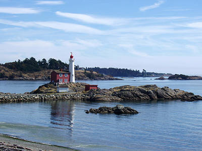 Fisgard Lighthouse Shoreline Art Print