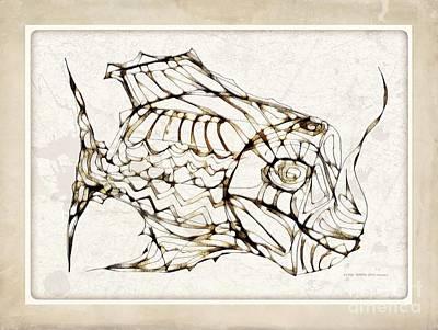 Digital Art - Fish 3771 by Marek Lutek