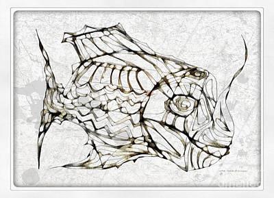 Digital Art - Fish 3772 by Marek Lutek
