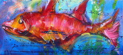 Painting - Fish 4 by Les Leffingwell