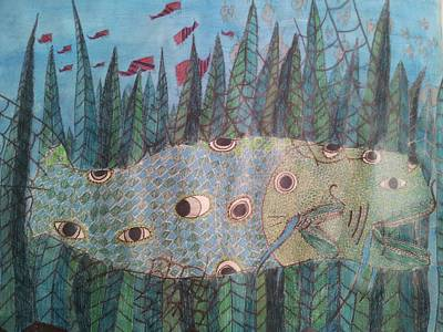 Cold Temperature Drawing - Fish 4 by William Douglas