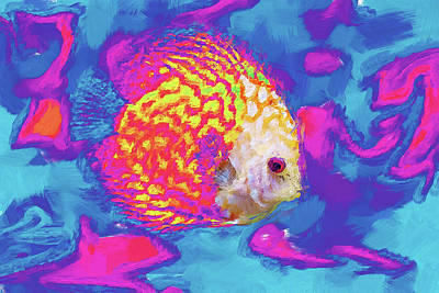 Digital Art - Fish Abstract by MS  Fineart Creations
