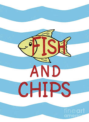 Digital Art - Fish And Chips by Nola Lee Kelsey