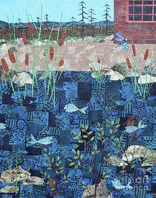Mixed Media - Fish And Dragonfly by Janyce Boynton