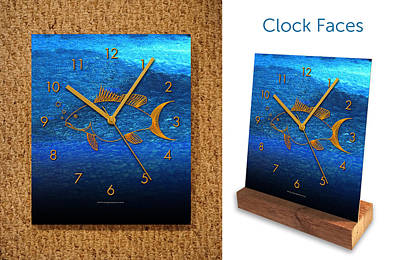 Sculpture - Fish And Other Clock Faces by Paul Gaj