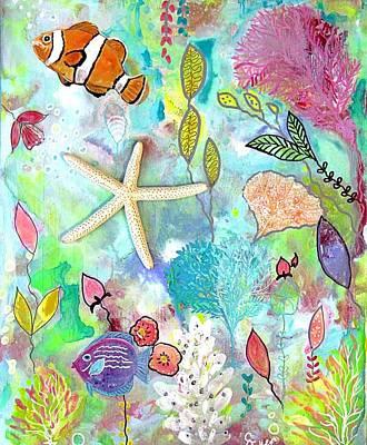 Wall Art - Painting - Fish And Starfish by Carol Iyer