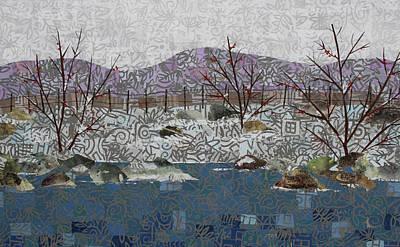 Mixed Media - Fish And Winter Detail 2 by Janyce Boynton