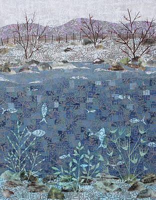 Mixed Media - Fish And Winter by Janyce Boynton