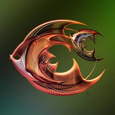 Flatfish Digital Art - Fish by Andy Young