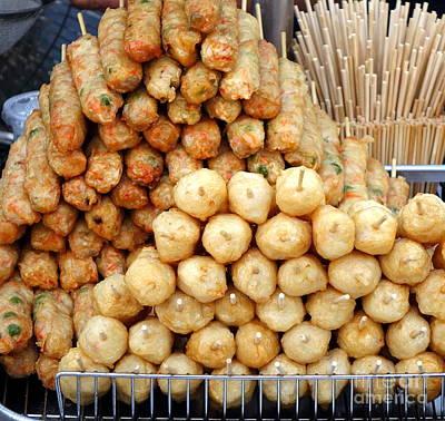 Photograph - Fish Balls And Fish Sausages by Yali Shi