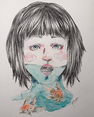 Shock Mixed Media - Fish Bowl by Allyson Bates