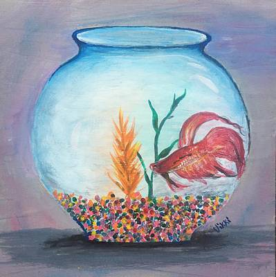 Painting - Fish Bowl by Vikki Angel