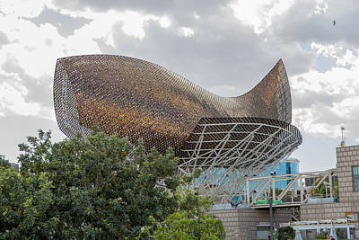 Ceramic Fish Photograph - Fish By Frank Owen Gehry - Olympic Village - Barcelona Spain by Jon Berghoff