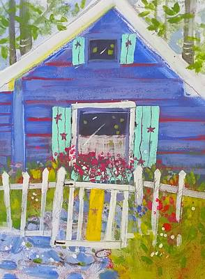 Painting - Fish Camp Cottage by Gertrude Palmer