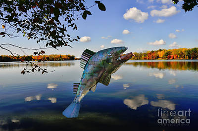 Photograph - Fish Catches Man by David Arment