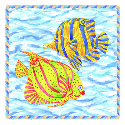 Wall Art - Painting - Fish Couple by Svetlana Titarenko