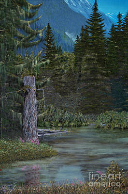 Painting - Fish Creek Lagoon by Stanza Widen
