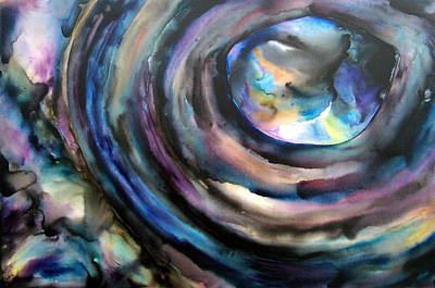 Outer Space Abstract Painting - Fish Eye by Christy  Freeman