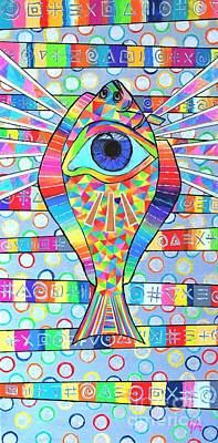 Painting - Fish Eye by Jeremy Aiyadurai