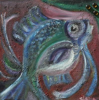 Art Print featuring the painting Fish Eye by Sladjana Lazarevic