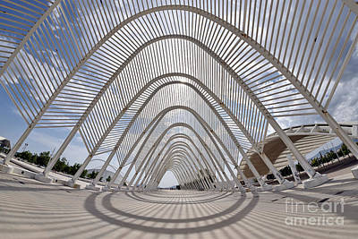 Photograph - Fish Eye View Of Archway In Olympic Stadium by George Atsametakis