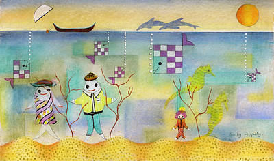 Fish Family Print by Sally Appleby