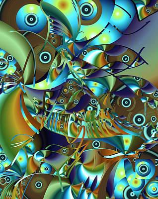 Digital Art - Fish Fiesta by Lynda Lehmann