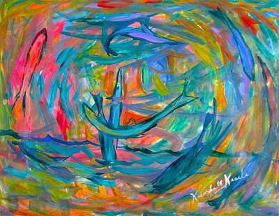 Painting - Fish Flip by Kendall Kessler