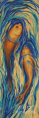 Fish Flow Original by Marie Spence
