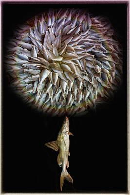 Fish Flower Art Print by Nichon Thorstrom