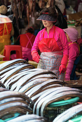 Photograph - Fish For Sale At Jagalchi Fish Market by Andrew Michael