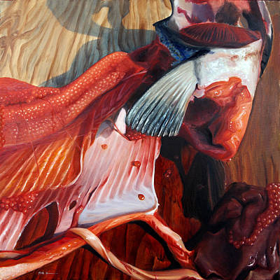 Salmon Painting - Fish Guts by Ruth Hulbert