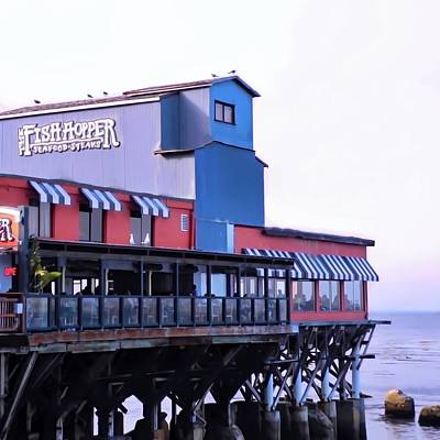 Fish Hopper Restaurant In Monterey Art Print by Kirsten Giving