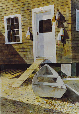 Painting - Fish House Monhegan by Tyler Ryder