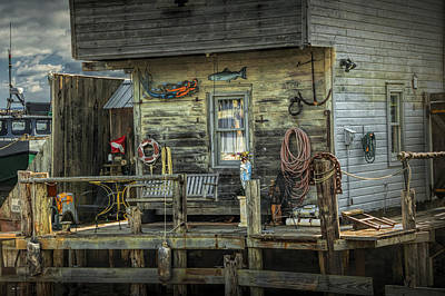 Leland Michigan Photograph - Fish House On The River At Fishtown In Leland Michigan by Randall Nyhof